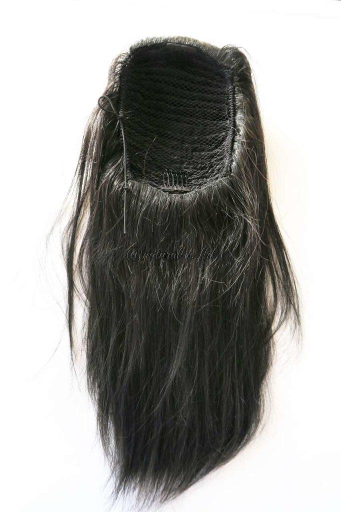 自毛で作るウィッグ ポニーテール裏側
